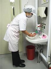 作業前手洗い